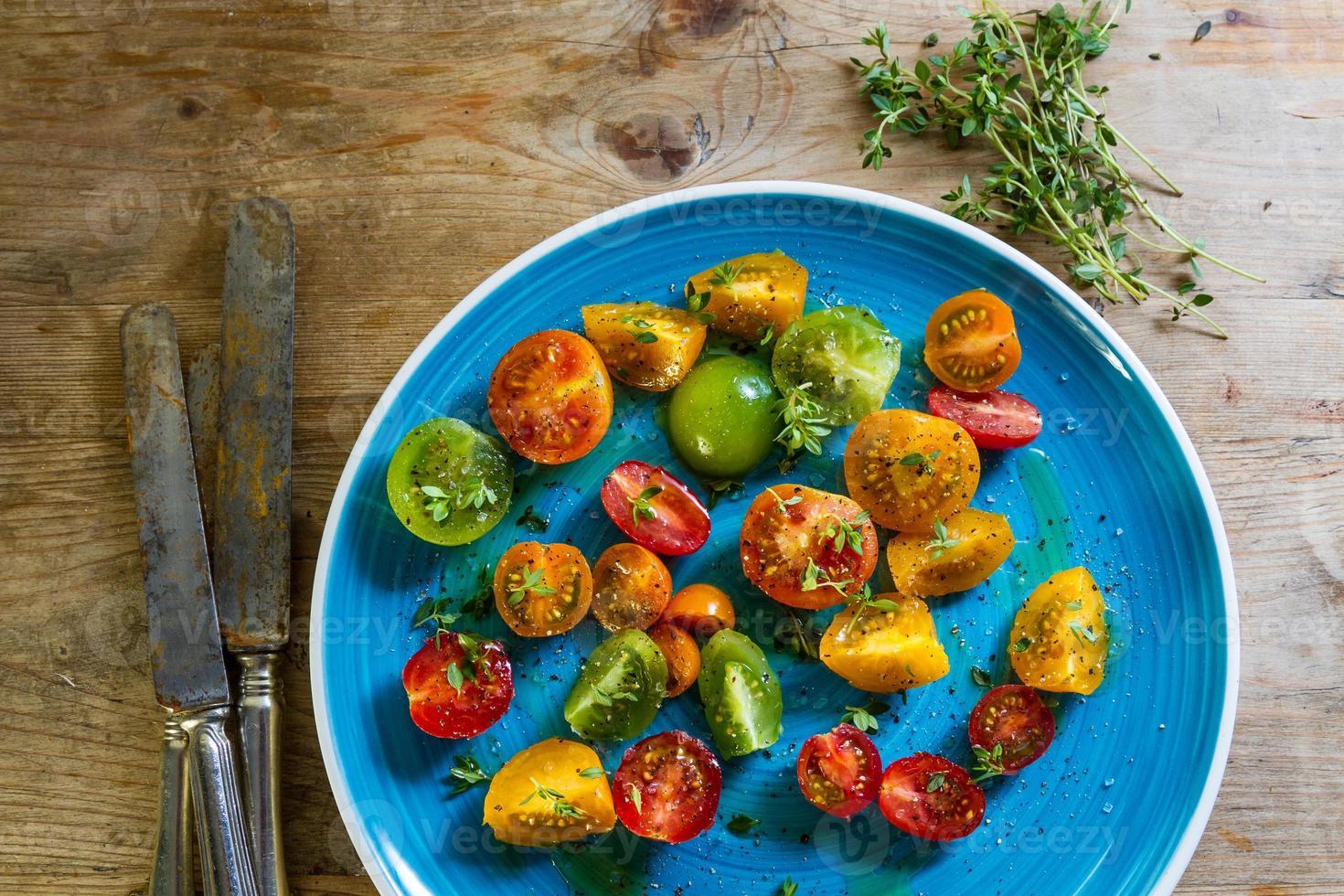 Colourful tomato salad photo