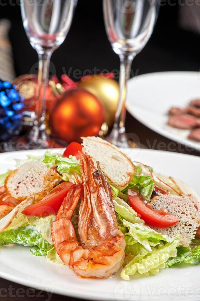 Tasty shrimp salad photo