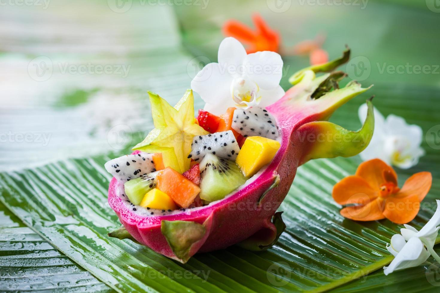 Exotic fruit salad photo