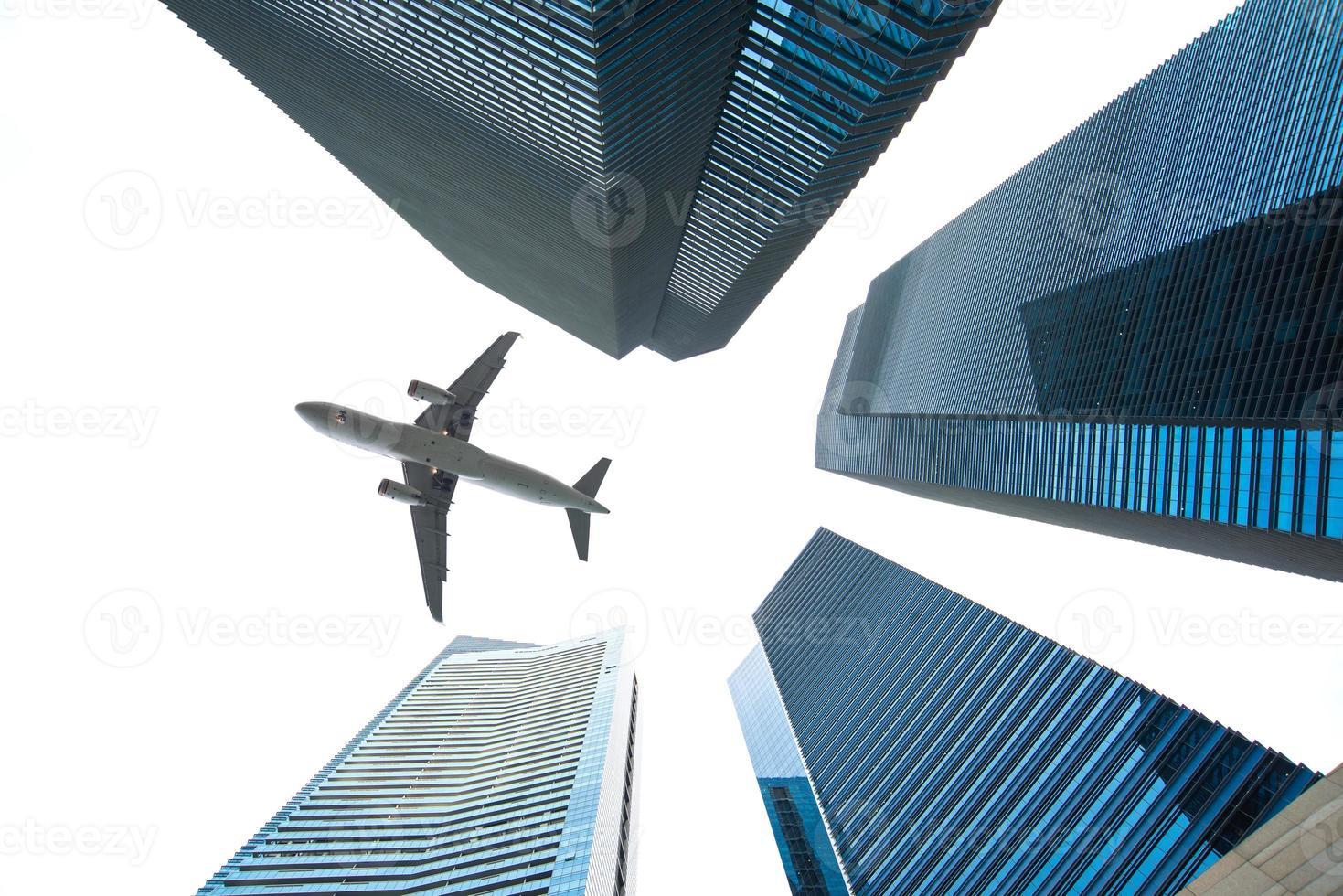 Jet over City photo