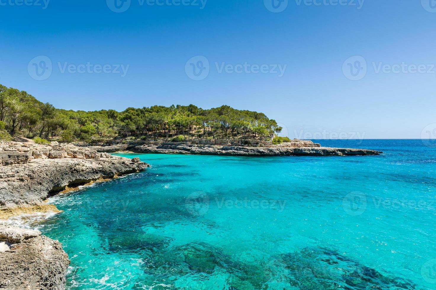 paisaje del mar mediterraneo foto
