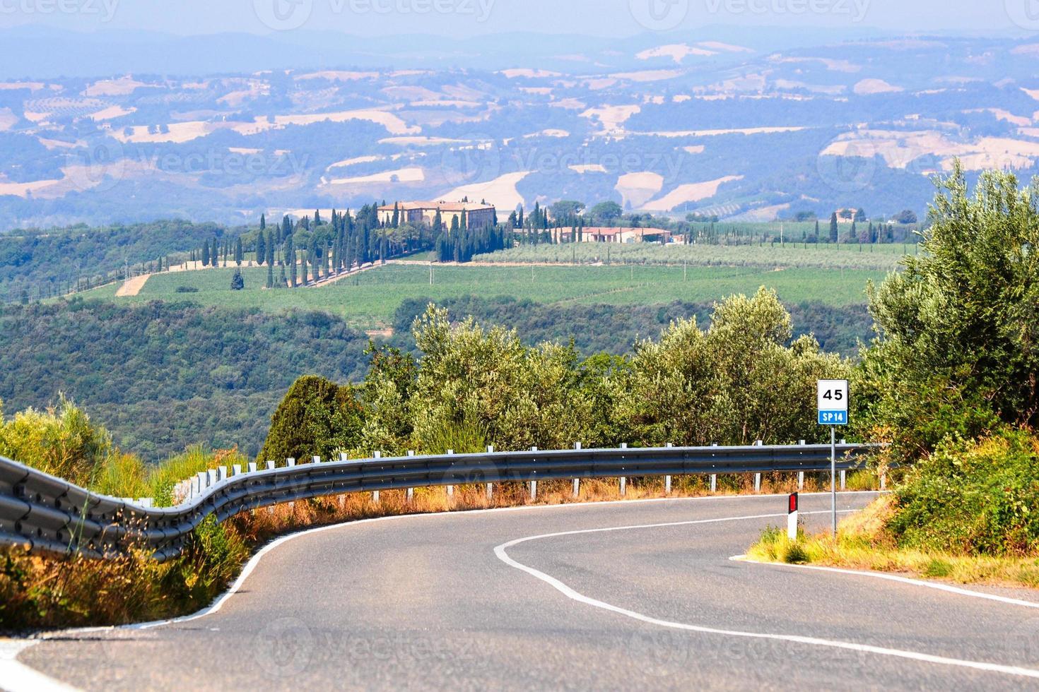 Beautiful tuscan landscape photo
