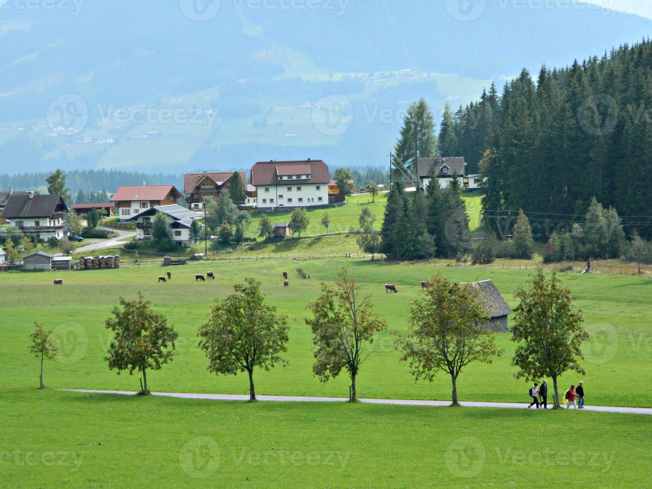 paisaje de verano austriaco foto
