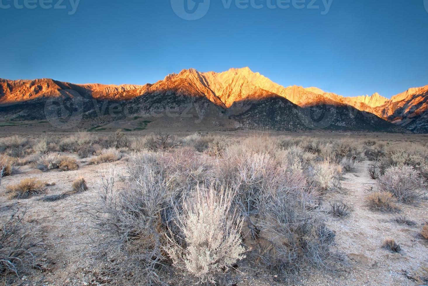 mountain landscape sunrise photo