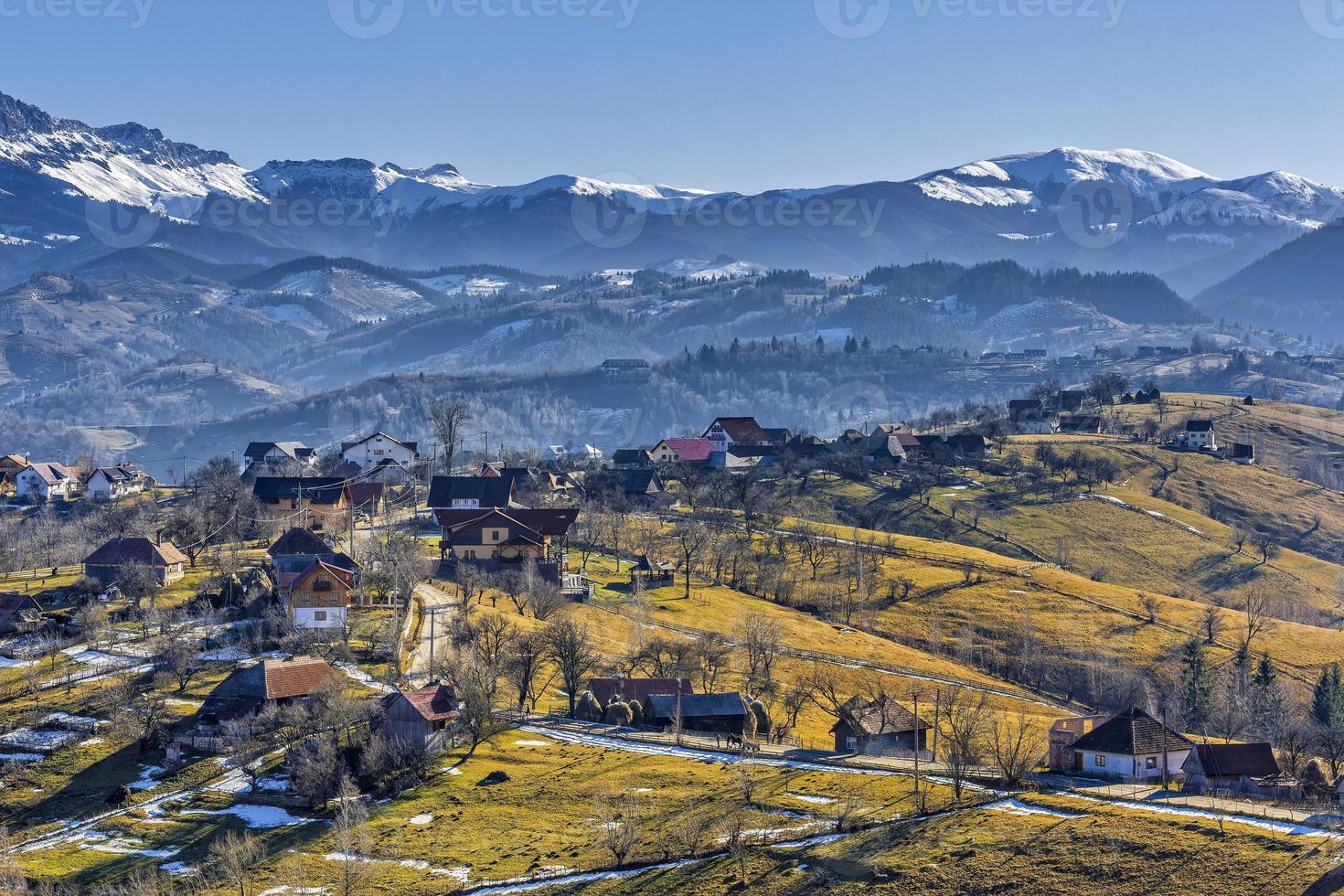 Countryside mountain landscape photo