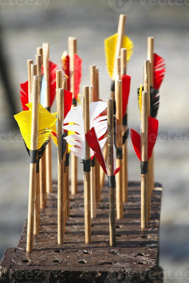 Bow arrows closeup photo