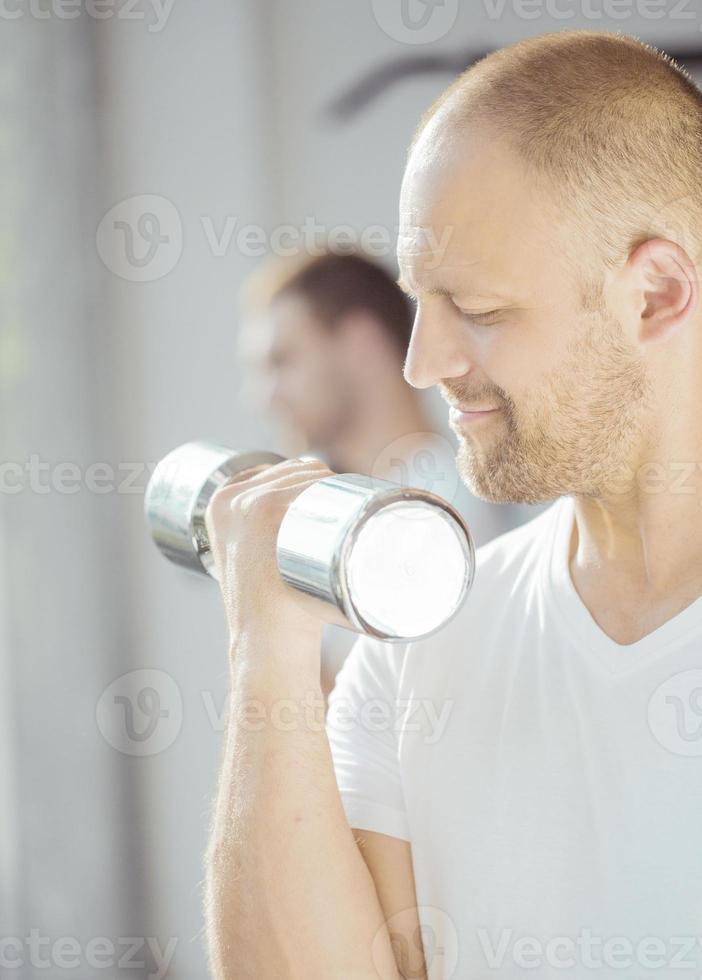 Weight lifting exercise photo