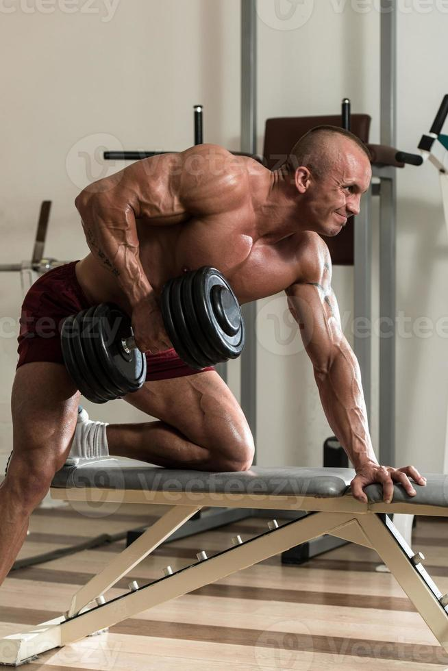 Back Exercises With Dumbbell photo