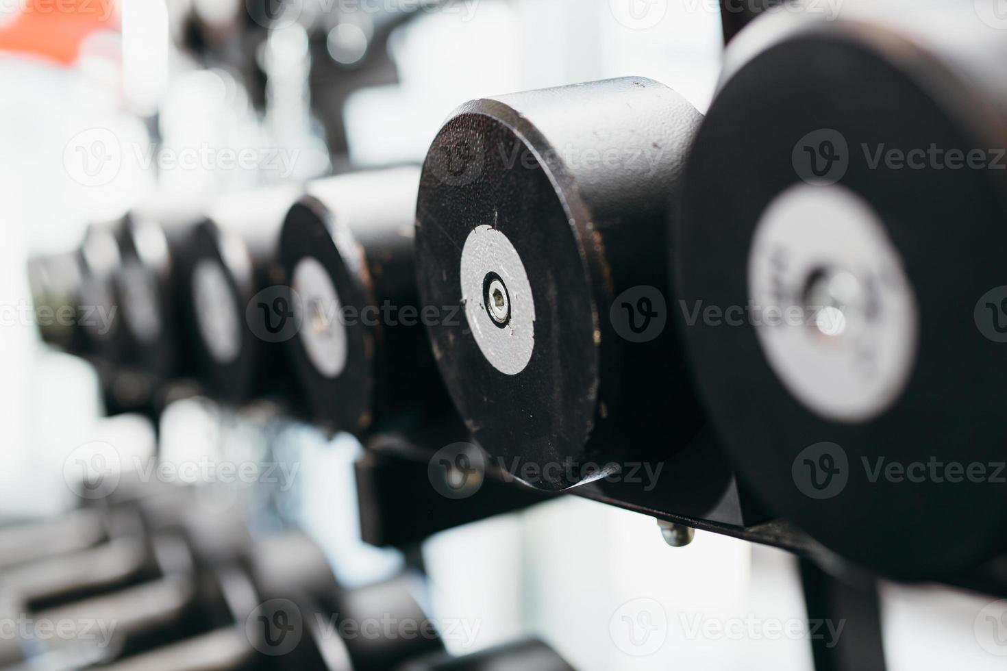 primer plano de pesas foto