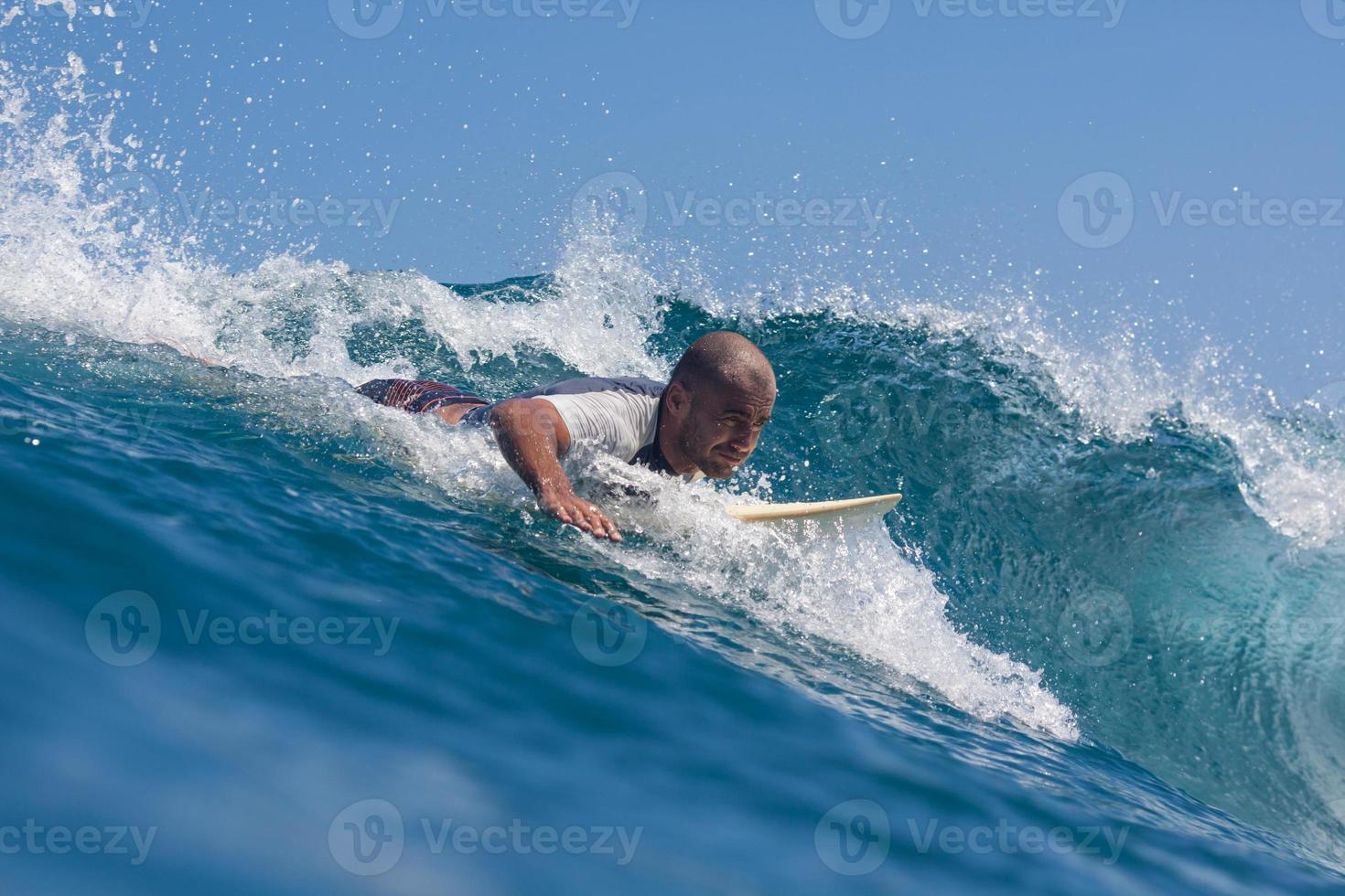 Surfing a wave. photo