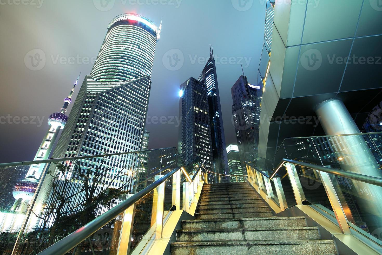 paisaje de la ciudad de shanghai lujiazui foto