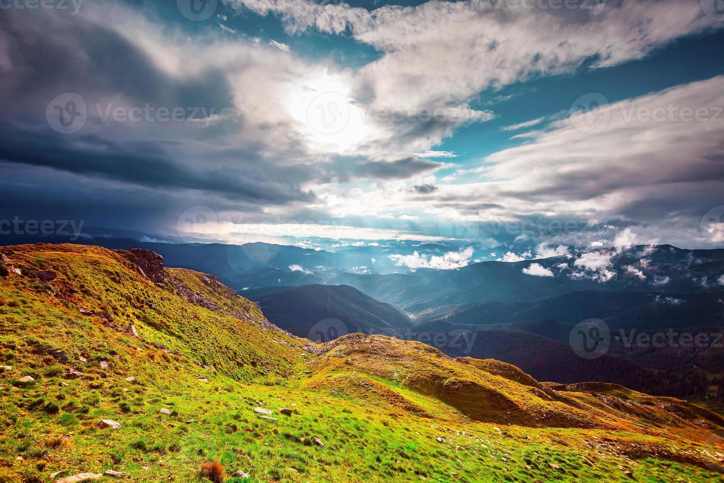 Mountain landscape in autumn photo