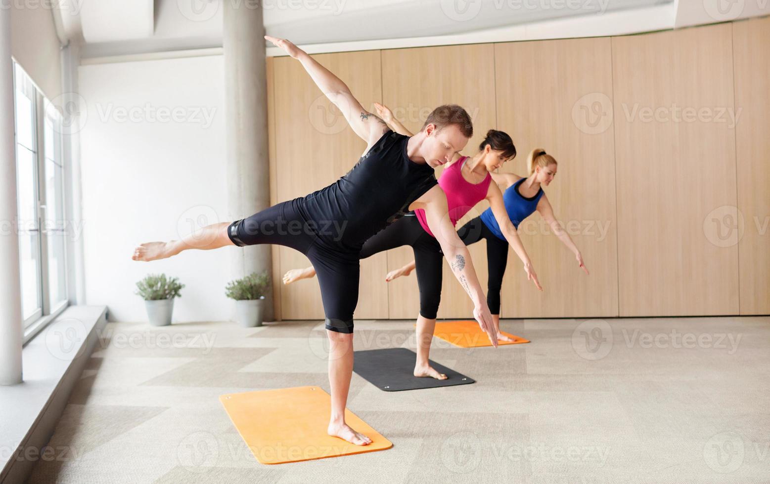 clase de yoga foto