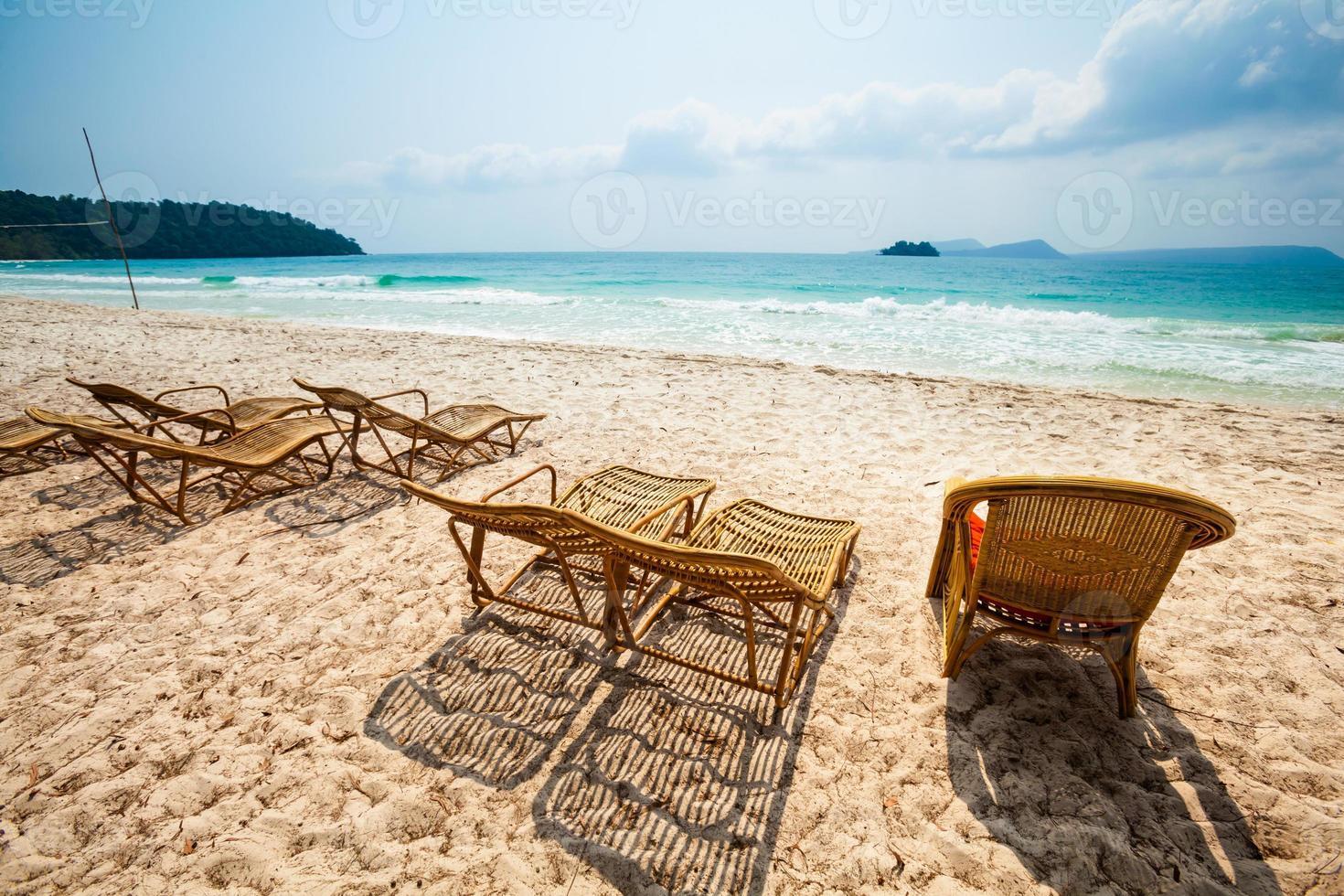 paisaje tropical de koh rong foto