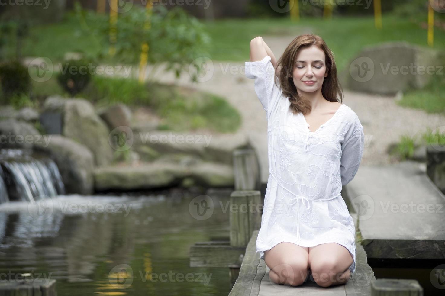 yoga en la naturaleza foto