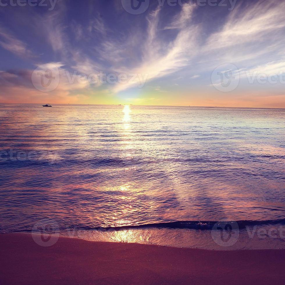 sky and sea sunset landscape photo