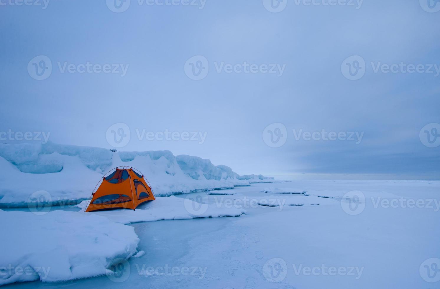 campamento de invierno foto