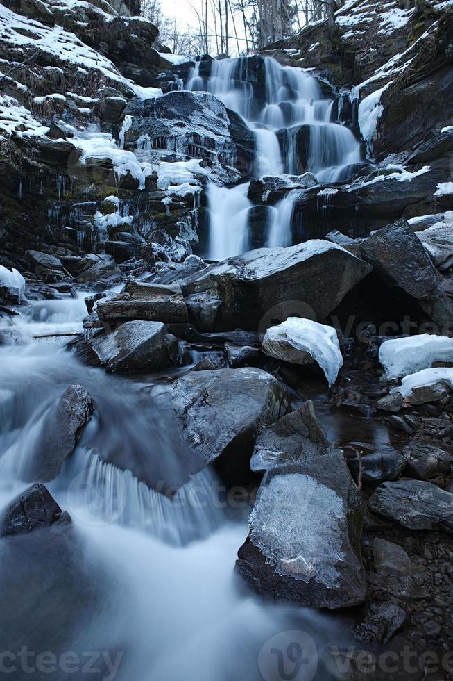 Winter waterfall photo
