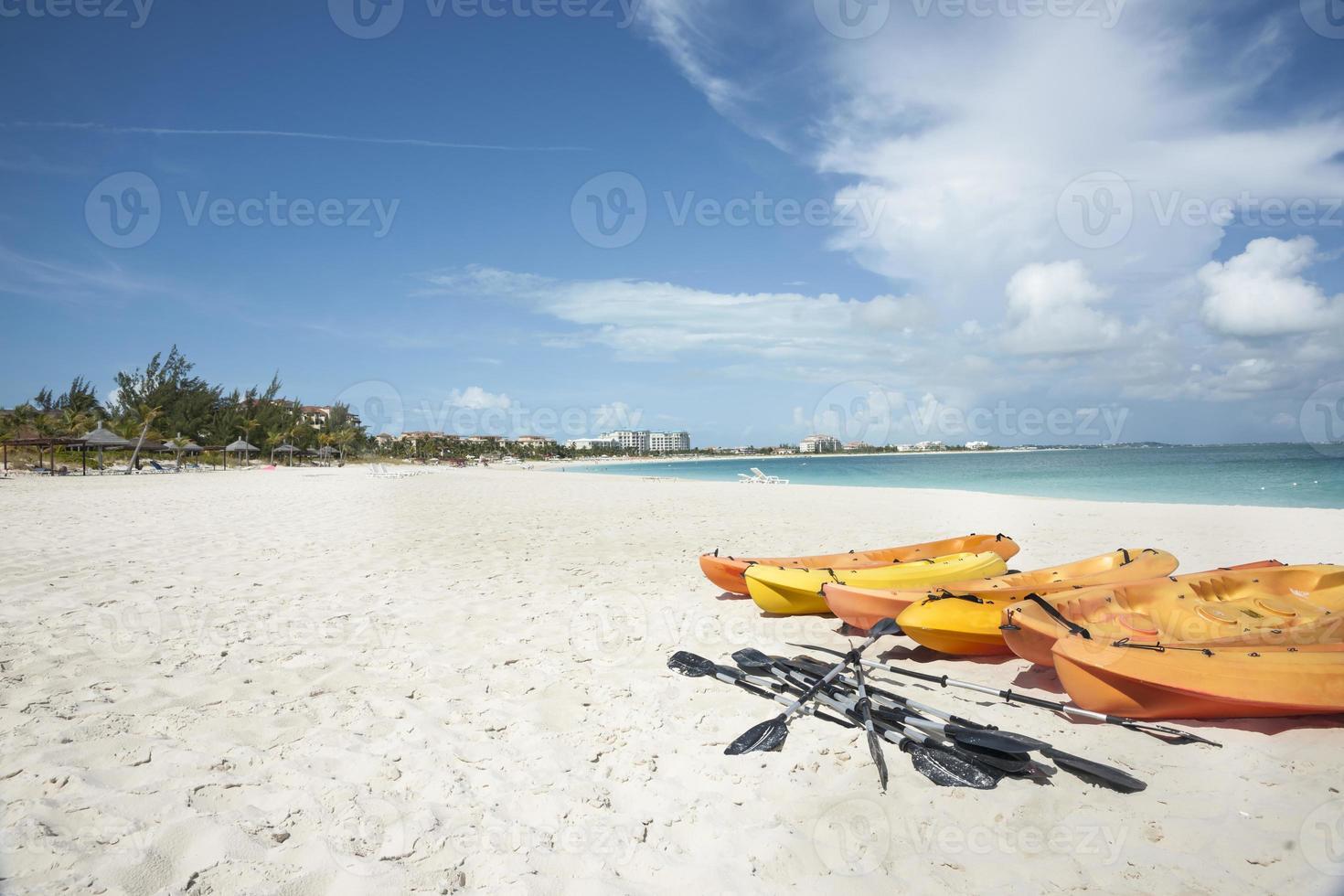 Orange kayaks. photo