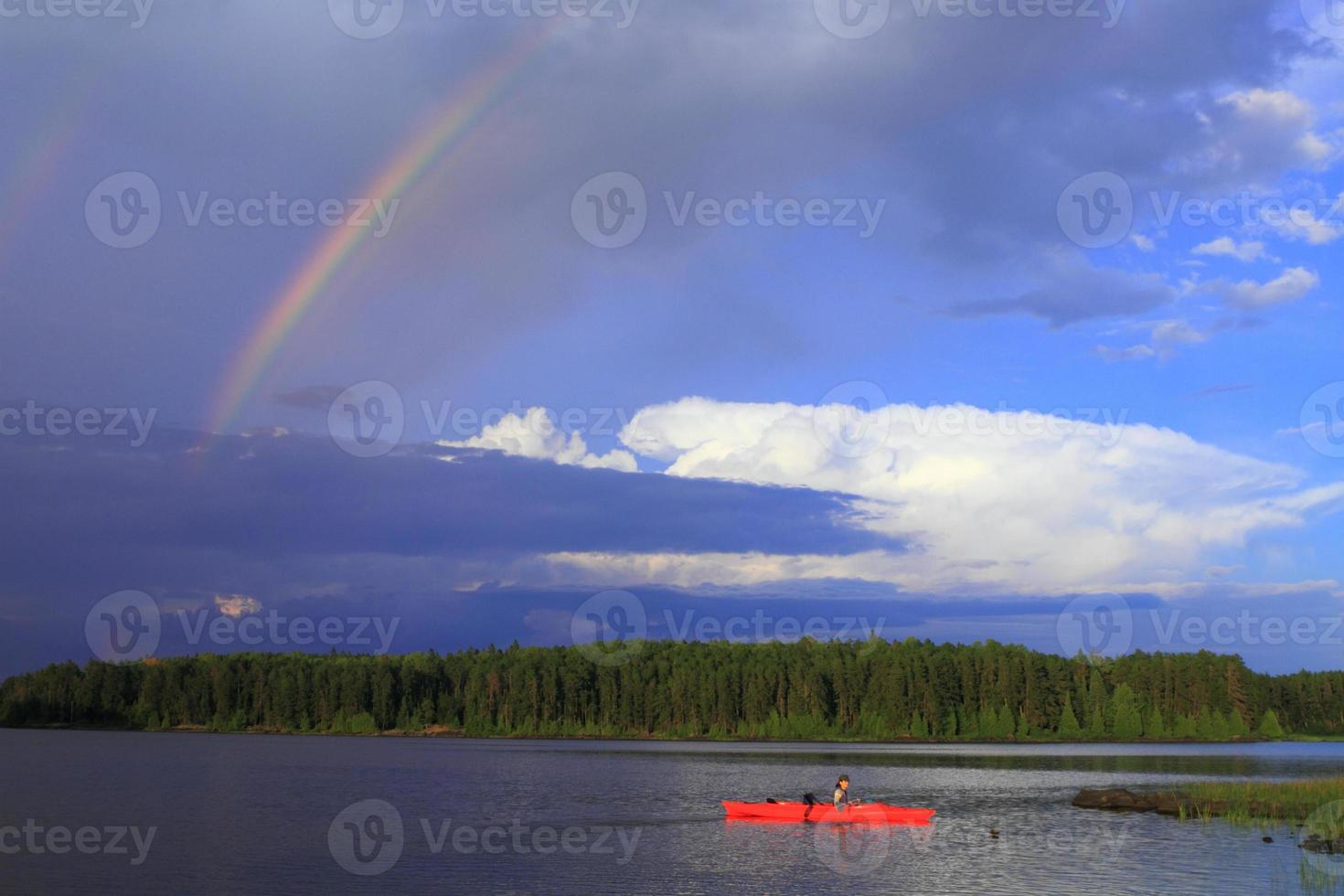 Girl canoeing photo