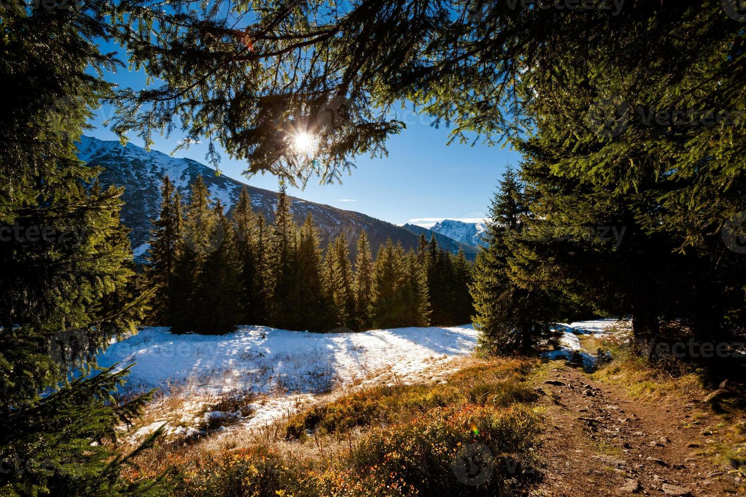 Slovakian Belianske Tatry mountains landscape photo