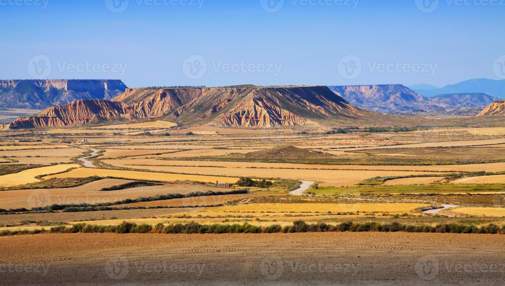 semi-desert landscape of Navarra photo