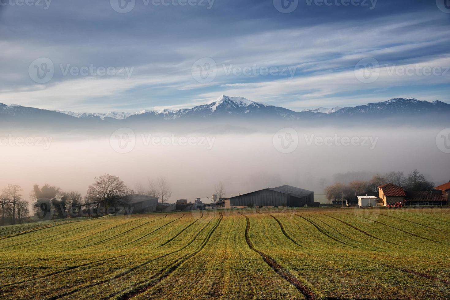 paisaje de los pirineos (francia) foto