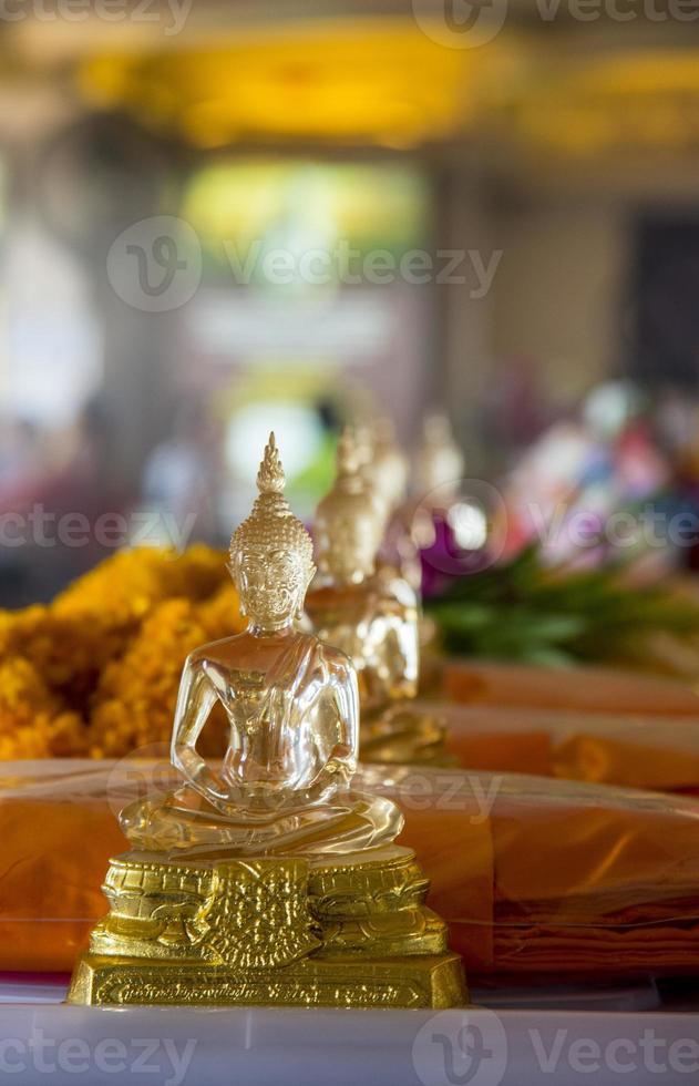 Row of glass image  buddha3 photo