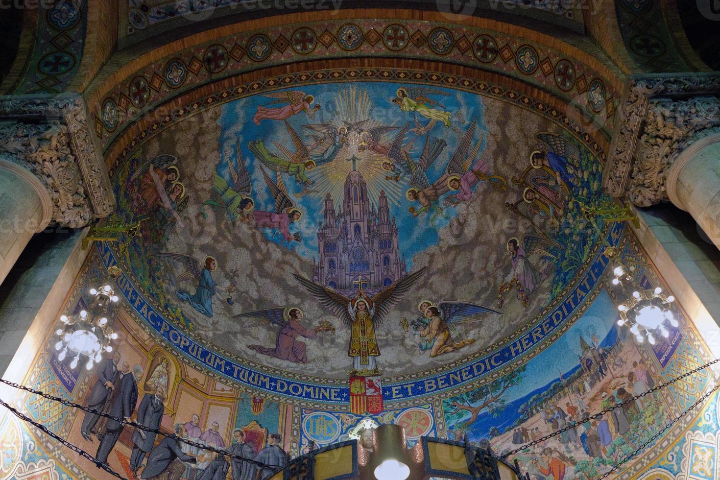 mosaico fresco en la iglesia foto