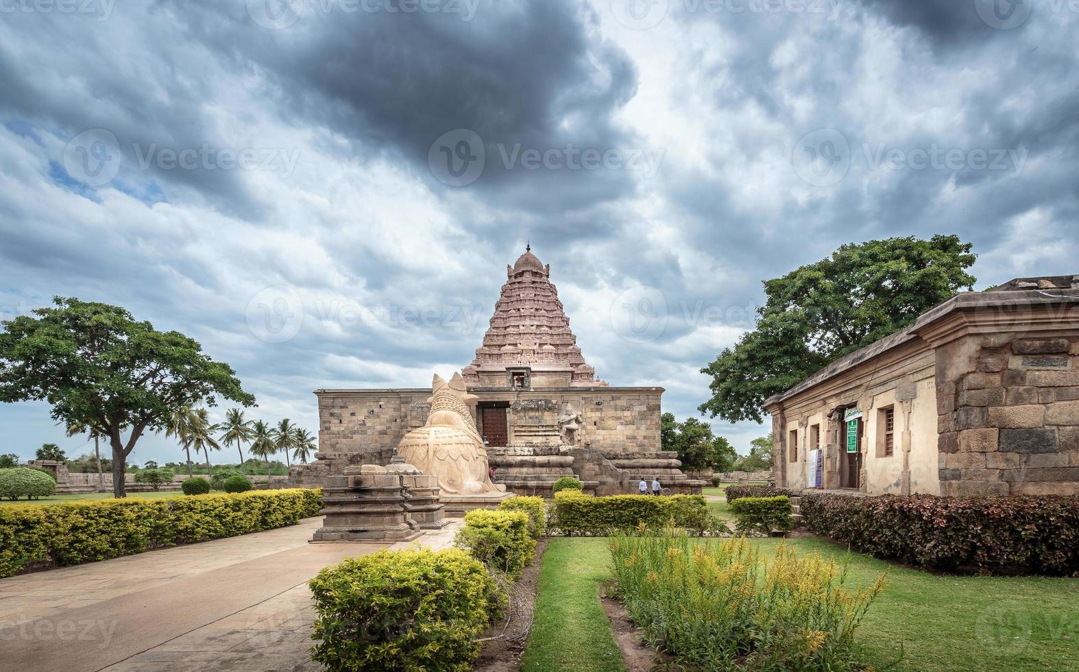 Ancient Hindu temple in South India photo