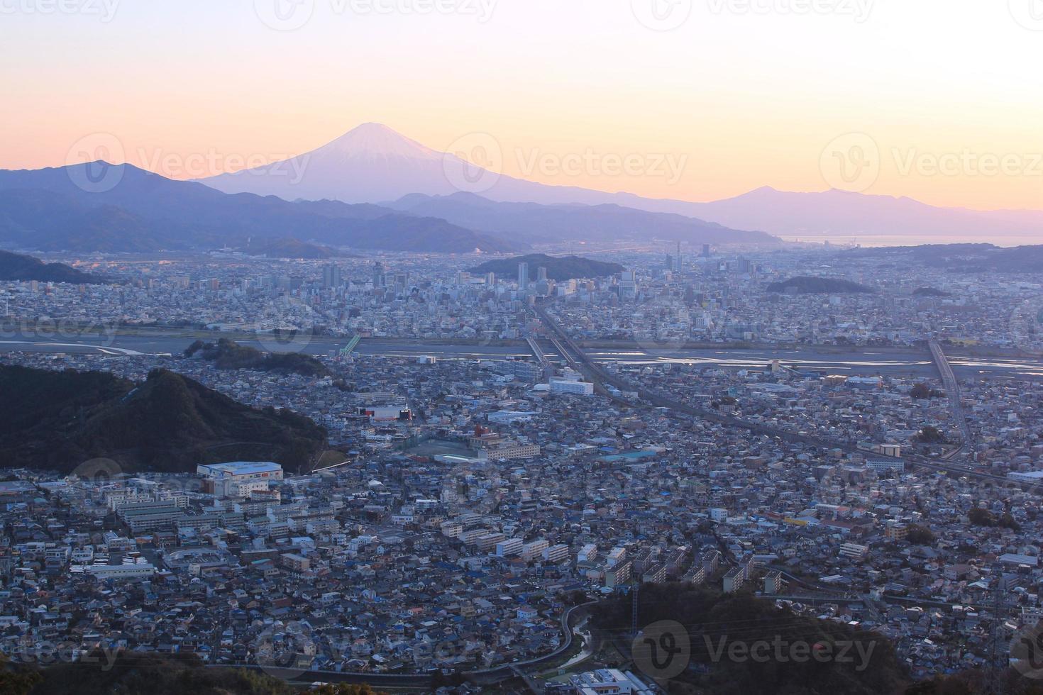 Mt.Fuji and Shizuoka-shi photo