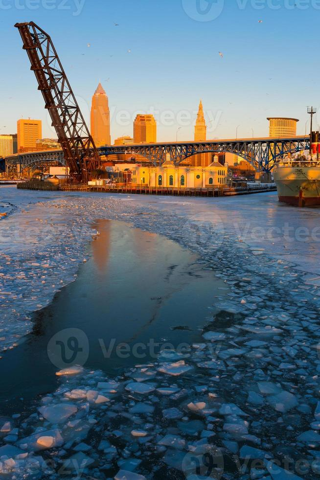 Cleveland Flats in Winter photo