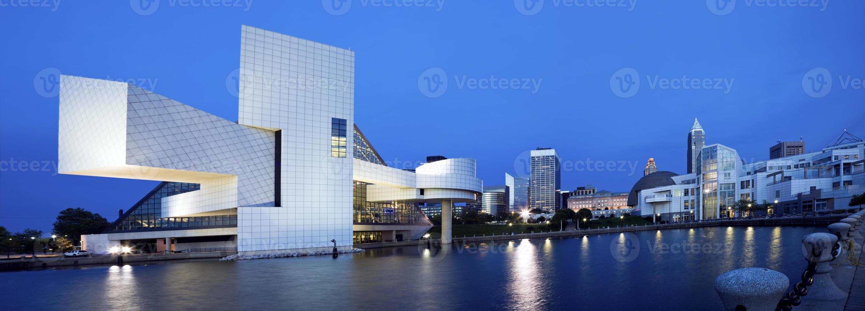 Blue panorama of Cleveland photo