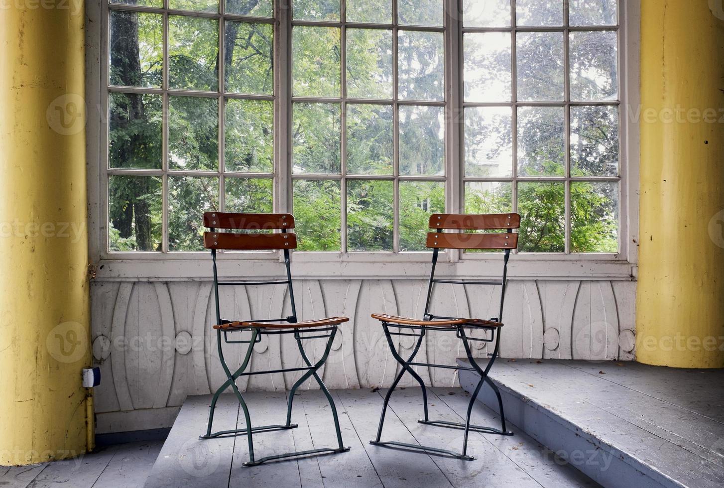 antiguo jardín de invierno foto