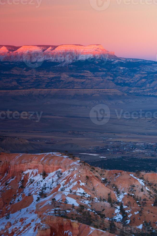 Bryce invierno amanecer foto