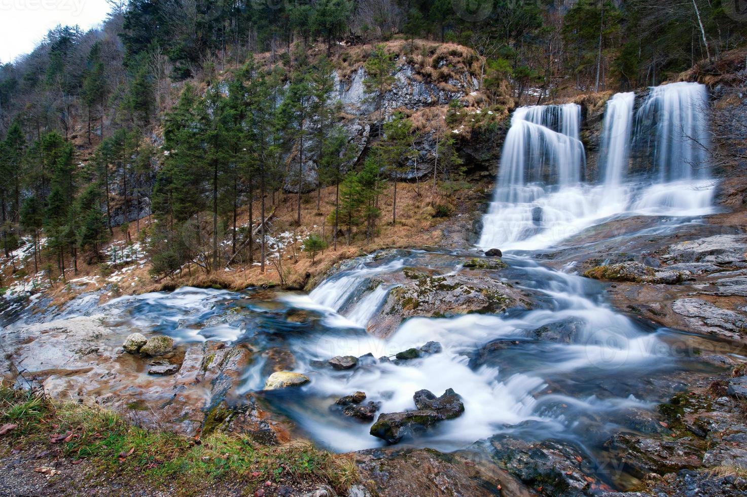 Waterfall in winter photo