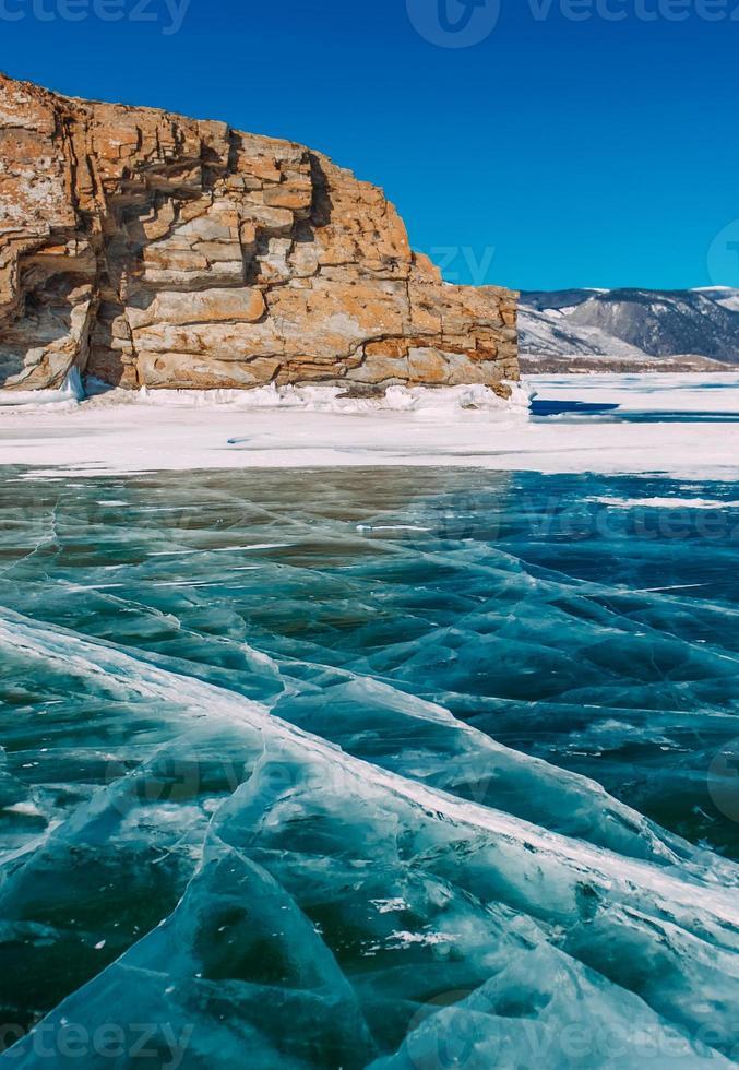 frozen winter Baikal photo