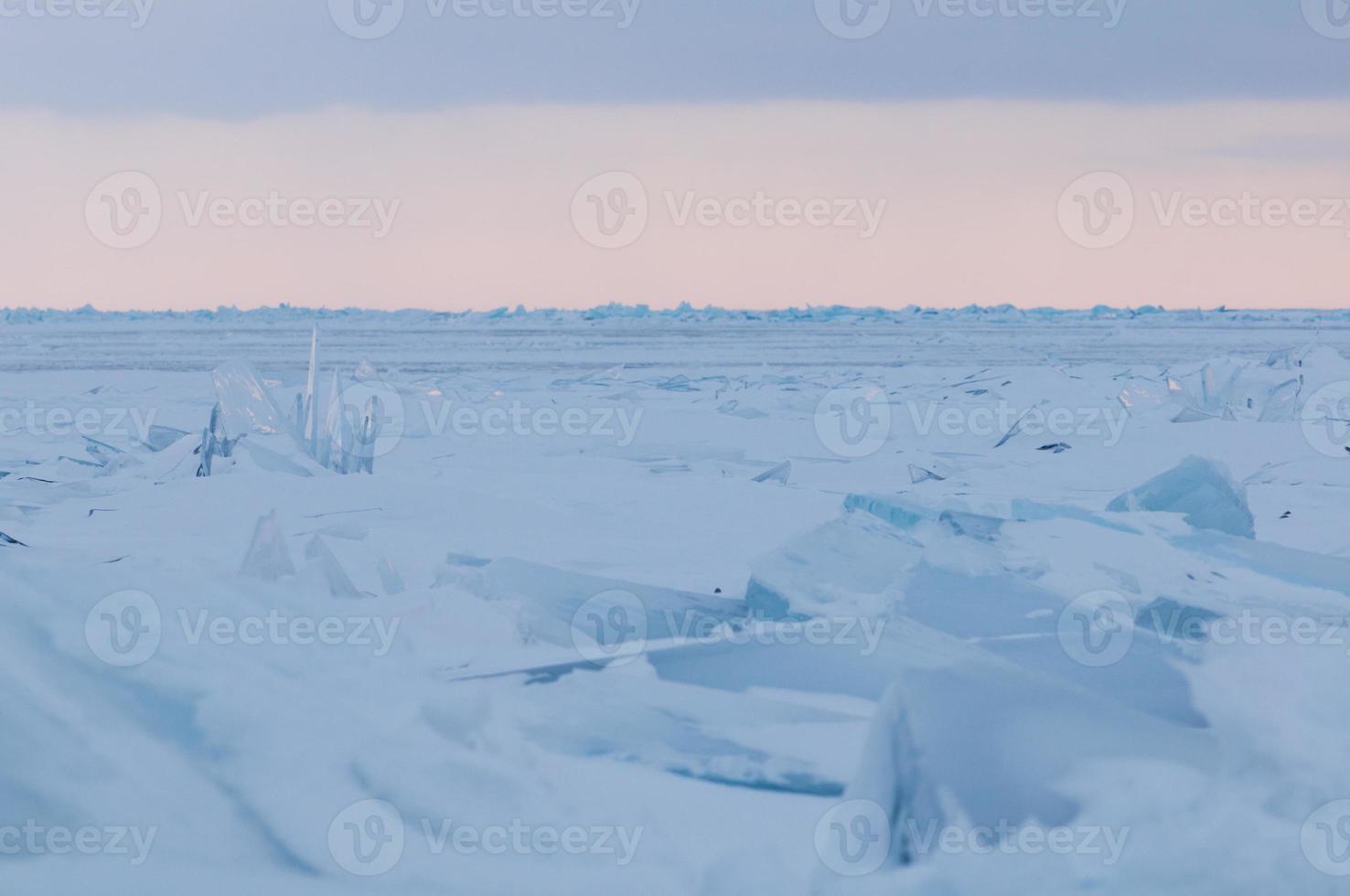 winter of Huron lake photo