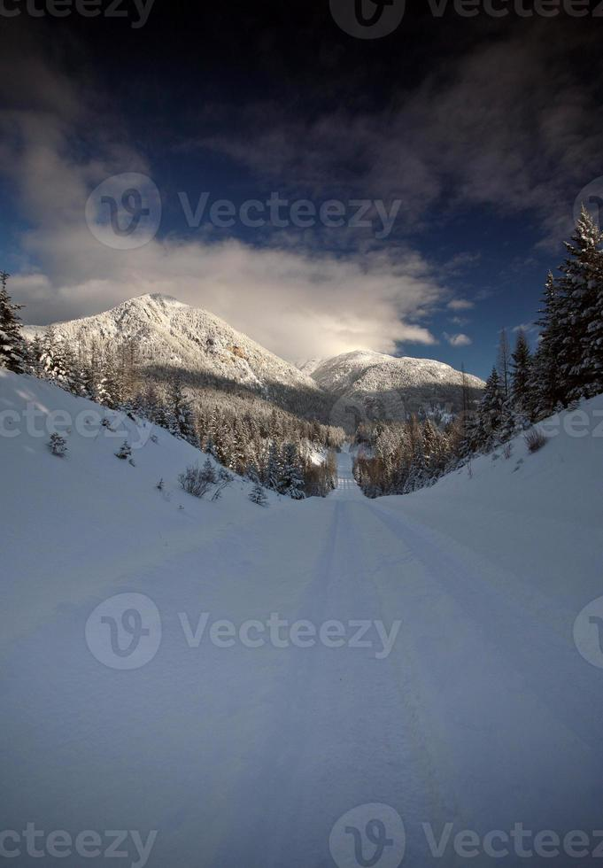 Rocky Mountains in winter photo