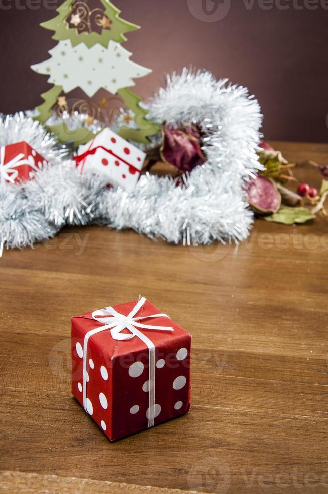 tema de invierno, composición navideña foto