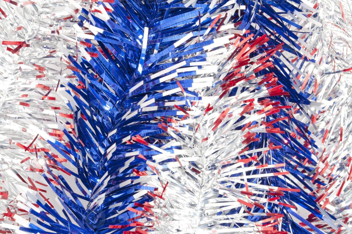 fitas vermelhas e azuis prateadas foto