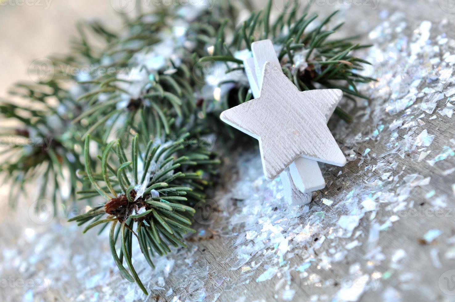 decoracion festiva y de invierno foto
