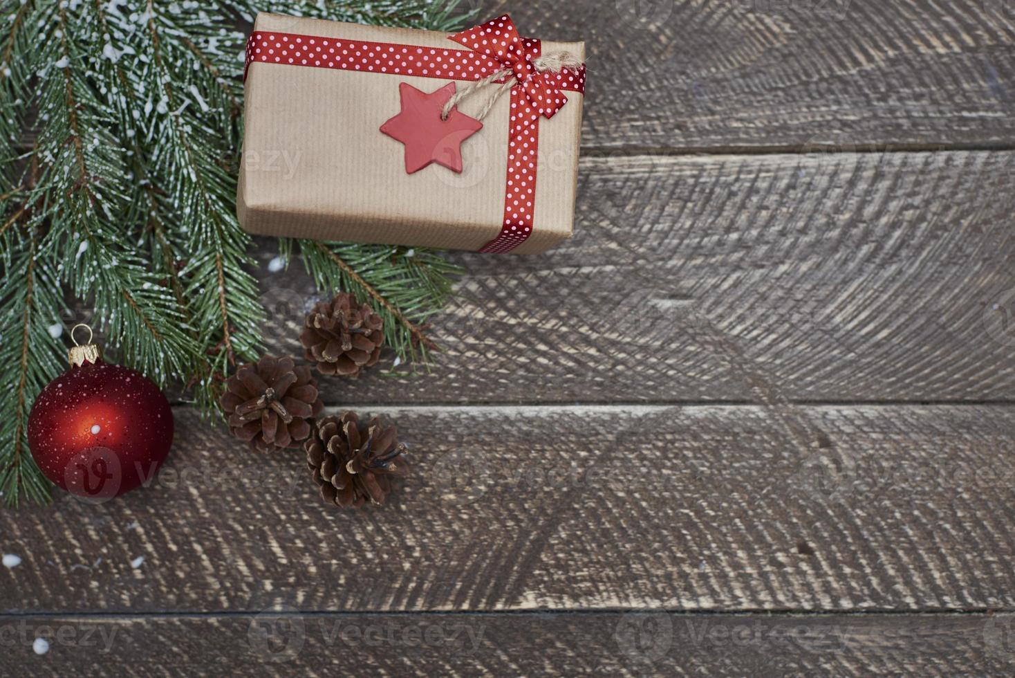 Christmas gift in winter season photo