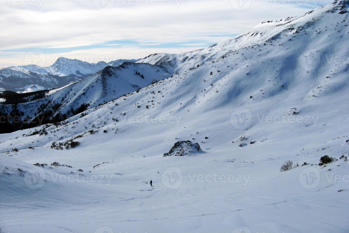 Mountains with snow in winter, photo
