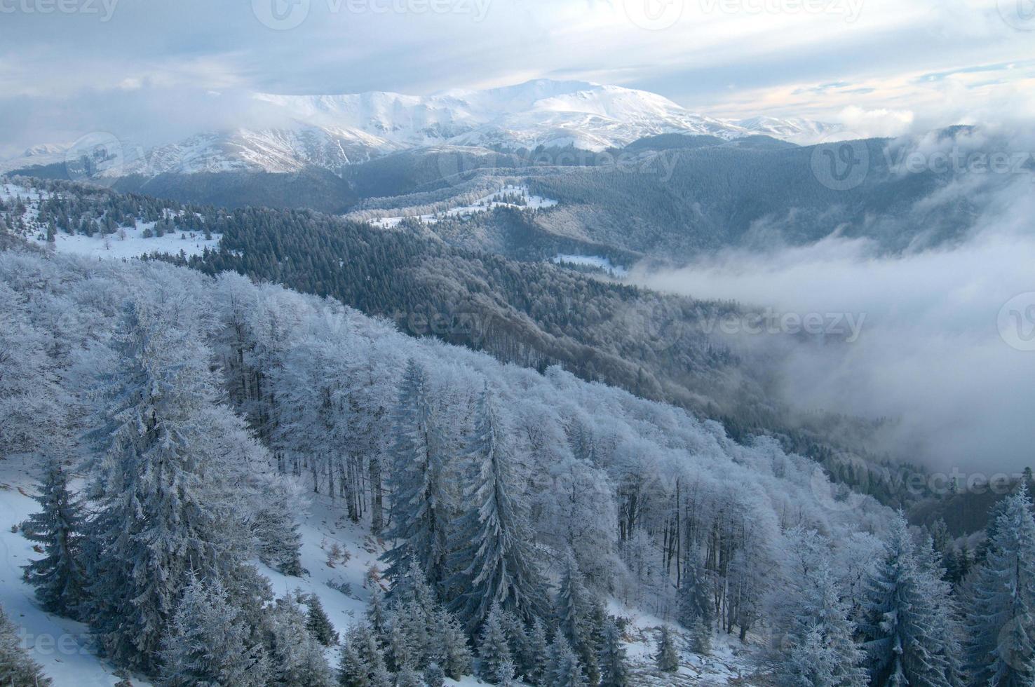 Mountain scenery in winter photo
