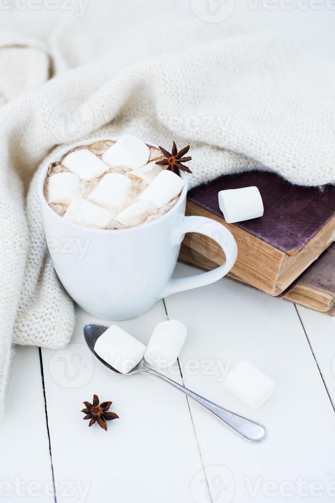 Cozy winter home background photo