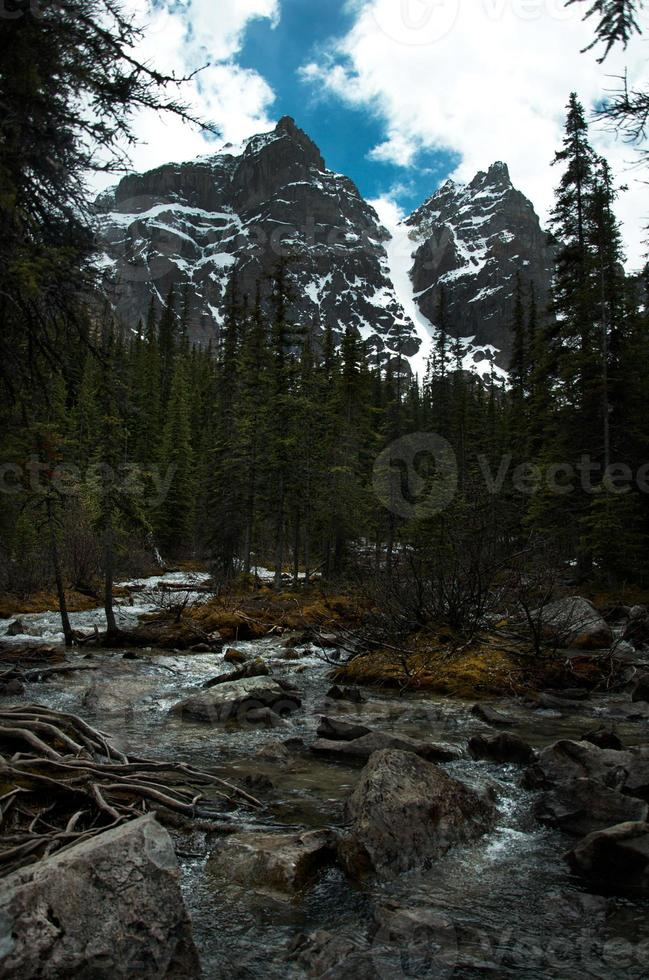 Meltwater into Lake Louise photo