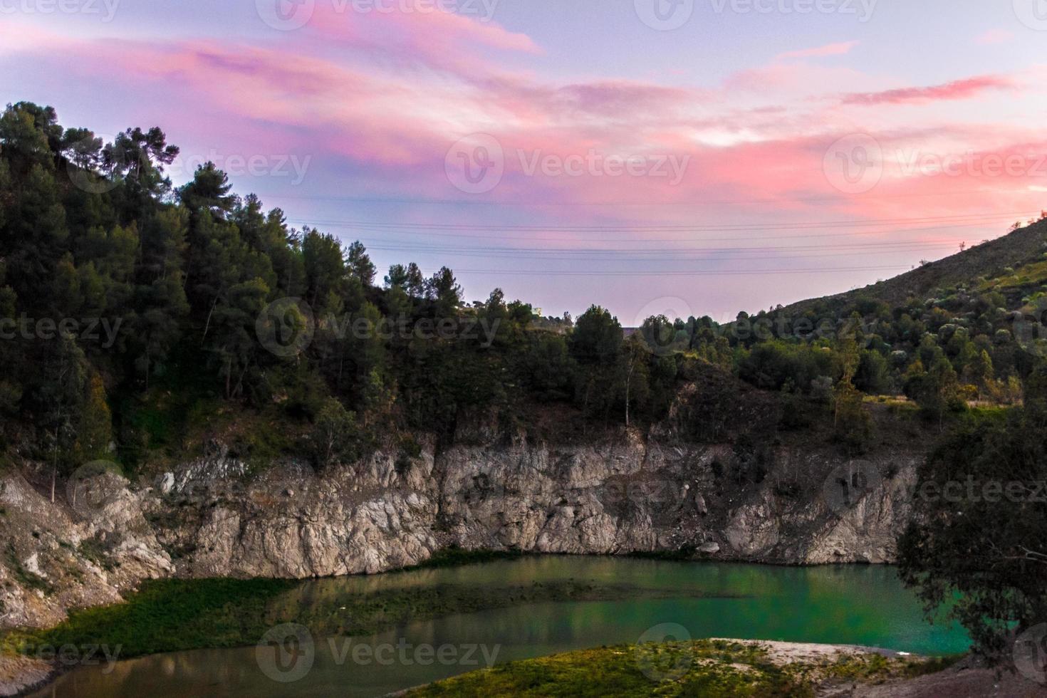 Colorful lake photo