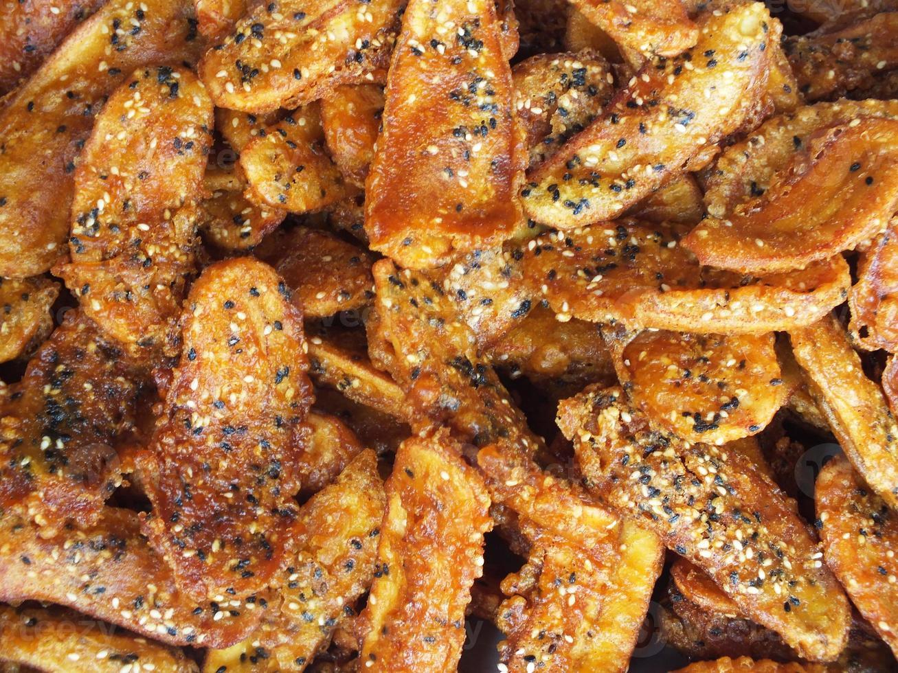 Banana chips. photo