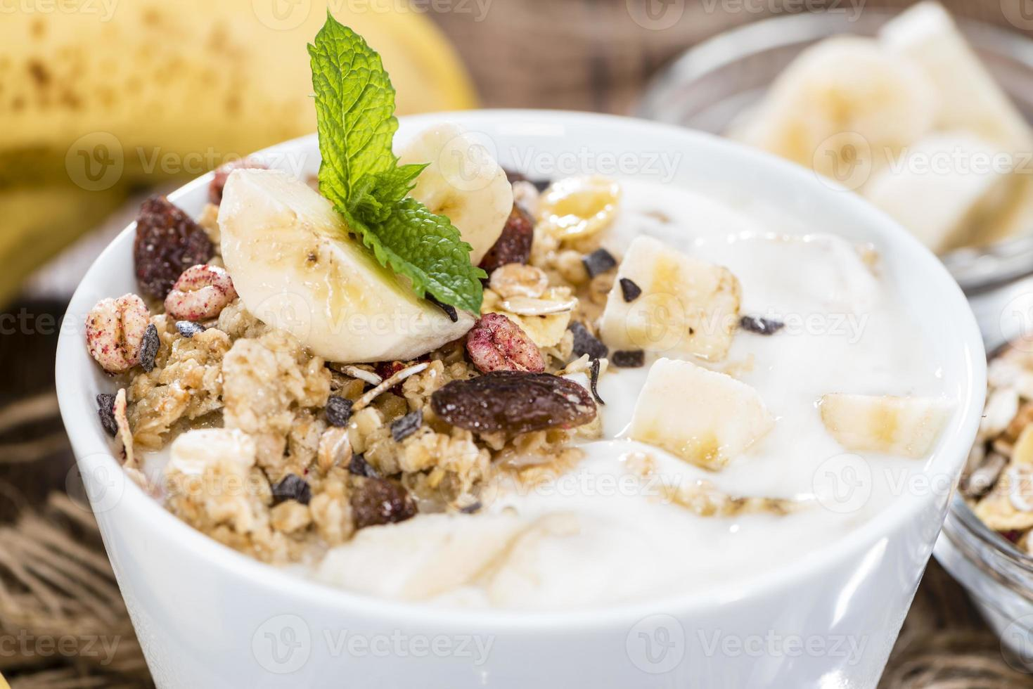 yogurt de banana foto